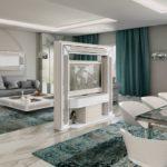 Sistema motorizzato girevole porta tv per sala da pranzo e salotto